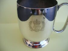 chope the queen's siver jubilée 1977 argent poinçons anglais titre A1 330gr