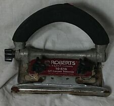 Roberts Carpet Trimmer 10-616 Heavy Duty Slotted Blades Flooring Tool