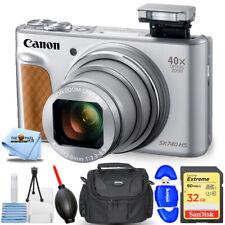 Canon PowerShot SX740 HS Digital Camera (Silver) 2956C001 + 32GB + Case Bundle