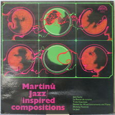 MARTINU Jazz-Inspired Compositions LP Jazz/Contemp. Classical w/Czech Ensembles