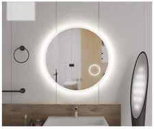 Mugo Bath Bathroom LED Round Mirror,Front-lit,Fogless,withMagnifier,32 diameter,