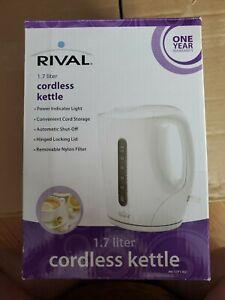 Rival Cordless Water Kettle 1.7 Liter w/Power Indicator Light