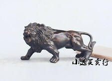 Collectible Copper bronze Carved Lion statue 5.5''