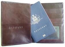 Passport holder document organiser leather travel wallet card case credit ID