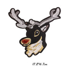 Deer Patch T-shirt Press Heat Transfer Sticker Washable Iron on Appliques DIYHot