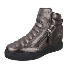 CRIME London Damen High Top Sneaker Gr 37 Schwarz Samt Leder Schuhe NP 169 NEU