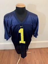 Vintage Nike West Virginia WVU # 1 Football Jersey Large L