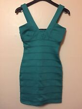 Topshop Petite Bandage Bodycon Dress Size 8 Turquoise Teal Club Cocktail BNWT