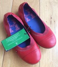 Tommy Hilfiger Dahlia Red Leather Ballet Flats - Kids UK 11.5 / EU 30 - BNWOB