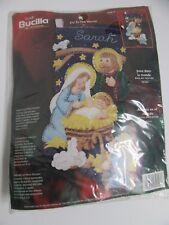 "Bucilla Christmas Stocking Felt Kit Joy to the World 84816 Baby Jesus 18"" Sequin"