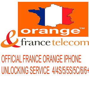 ORANGE FRANCE UNLOCKING SERVICE IPHONE 4 4S 5 5C 5S 6 6+ (CLEAN IMEI) SAME DAY