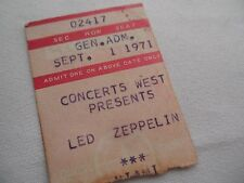 LED ZEPPELIN 1971 Original CONCERT Ticket Stub - MIAMI