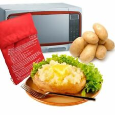 MICROWAVE JACKET BAKED POTATO COOKING BAG 4 MINS COOKER REUSABLE