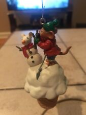ENESCO CHRISTMAS ORNAMENT: DOUBLE SCOOP SNOWMOUSE MOUSE w/ICE CREAM CONE NEW