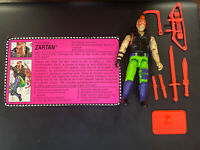 Gi Joe ARAH Zartan V2 Complete With File Card Excellent Condition