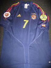 Authentische Raul Spanien Trikot 2004 Euro Hemd Camista Spanien Real Madrid Trikot M