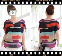 Damen Bluse Top Shirt Schwarz Rot Rosa Pink Blau Neu S M L XL 34 36 38 40 42 44