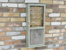 Wall Unit Cabinet Storage Industrial Wooden Distressed Wall Mount Furniture