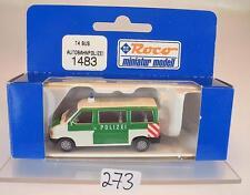 Roco 1/87 No. 1483 VW Volkswagen T4 Bus Autobahnpolizei neutral OVP #273