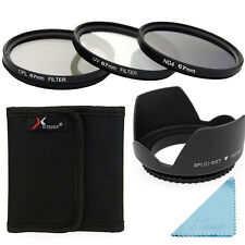 UV CPL ND4 Filter + Lens Hood 67mm For DSLR Canon 700D 650D 600D 550D 500D LF284