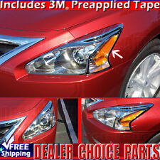 Fits 2013 2014 2015 NISSAN ALTIMA Chrome Headlight Bezels Covers Trims 4Door
