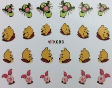 Nail Art 3D Decal Stickers Disney's Winnie the Pooh Tiger Piglet Pooh Bear K096