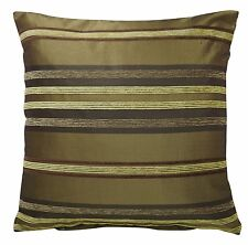 """GREEN & LIME Cushion Covers SET OF 4 Chenille Size 18 x 18"""" Throw Deco Decor NEW"""