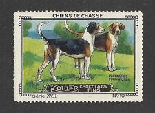 1931 France Cailler Kohler Dog Art Trade Card English / American Foxhound