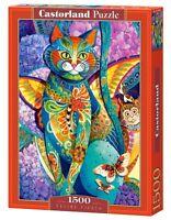Castorland C-151448 Puzzle Feline Fiesta Illustration Gemälde Katze 1500 Teile