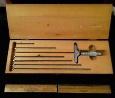 Starrett Depth Gauge Micrometer No. 440 w/Box (5 to 9 inch)