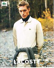 PUBLICITE ADVERTISING 065  2000  LACOSTE    le polo homme