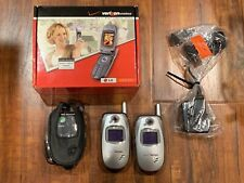 Lot of (2) Lg Vx5300 Verizon Cellular Cell Mobile Phone with Charger & Case