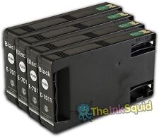 4 Black T7011 non-OEM Ink Cartridge For Epson Pro WP-4545DTWF WP-4595DNF