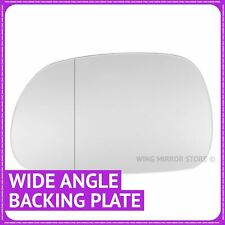 Left hand Passenger side for BMW Z3 1996-02 Wide angle wing mirror glass + plate