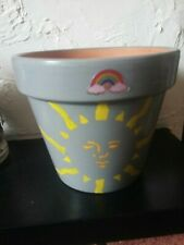 Night And Day Design Hand Painted Terracotta Flower Pot 15 Height