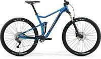 "Merida ONE-TWENTY 400 M 17.5"" BLUE  MTB FULL SUSPENSION Shimano SLX 2019"