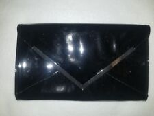 """Call it Spring Black Purse Clutch with Silver Trim Magnetic Closure 11""""x7"""""""