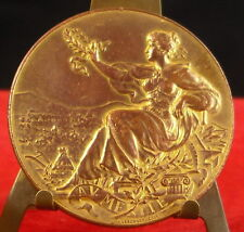 Médaille exposition internationale du Mans 1899 Massonet edit medal 铜牌 AD Weis