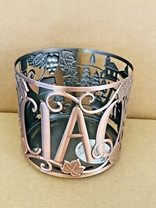 BATH & BODY WORKS CANDLE HOLDER CIAO ITALY 3 WICK LARGE SLEEVE WINE NEW