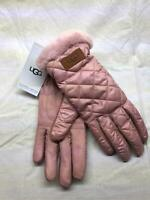 UGG Women's Quilted Lined Performance Gloves SC4 Pink Crystal Size L/XL NWT