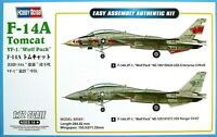 "Hobbyboss 1:72 F-14A Tomcat ""VF-1 Wolf Pack"" Aircraft Model Kit"