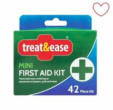 Mini First Aid Kit Plasters Travel Compact Case Pads Medical Kit Small