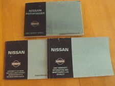 1997 Nissan Pathfinder Owners Manual, Very Good Condition, FREE SHIP