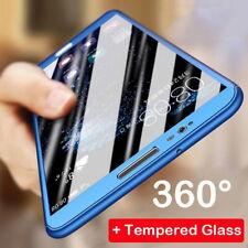 For Xiaomi Redmi Note 5 Plus Full Protector Case PC+Glass Screen Protector Cover
