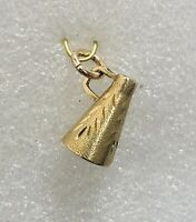 Vintage Michael Anthony  14K Yellow Gold Megaphone 3D Charm (2.3 Grams)