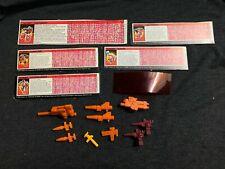 1980s TRANSFORMERS Original Weapons Guns Accessories lot + Cards Decoder Vintage