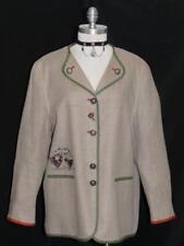 BEIGE ~ LINEN ~ German Women Sport SUMMER Dress Suit JACKET Over Coat / 42 16 L