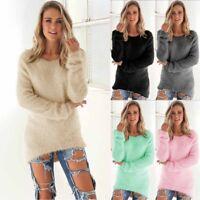 Women Winter Sweater Tops Pullover Knitwear Size Large Small Medium Plus S-3XL