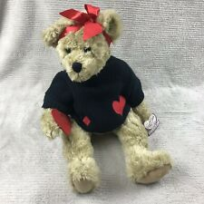 Annette Funicello Collectible Bear Co  Med/Large Size With Heart Sweater And Tag