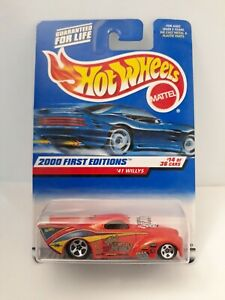 2000 Hot Wheels First Editions '41 Willys Orange Collector No.074 Car # 14 of 36
